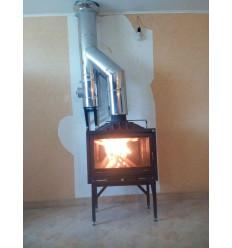 Дымоход для камина из нержавеющей стали