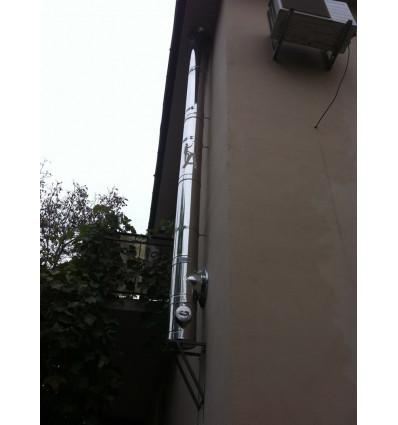 Дымоход для двухконтурного газового котла из нержавейки