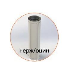 Труба для дымохода нержавеющая утепленная в оцинкованном кожухе (AISI 304)