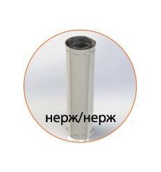 Труба для дымохода нержавеющая утепленная в нержавеющем кожухе (AISI 304)