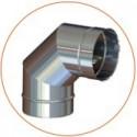 Колено (отвод) одностенное (AISI 304)