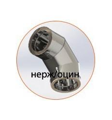 Колено (отвод) нержавеющее утепленное в оцинкованом кожухе (AISI 304)