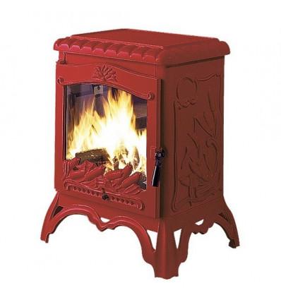 Каминная печь Invicta Chambord красная эмаль