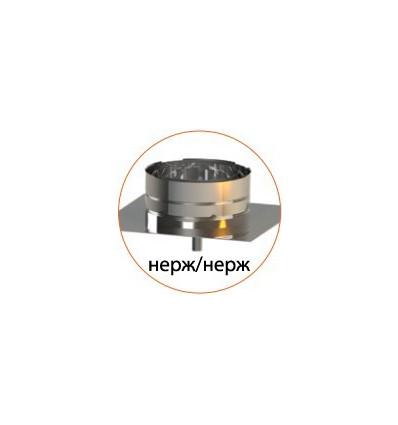 Подставка настенная (нерж/нерж) для утепленных труб в нержавеющем кожухе
