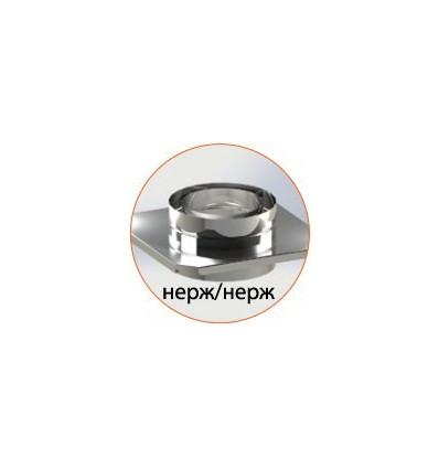 Разгрузочная платформа (нерж/нерж) для утепленных труб в нержавеющем кожухе